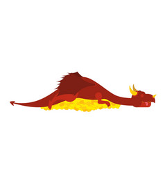 dragon and gold mythical monster protects vector image