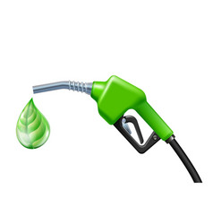 drop like a green leaf dripping from fuel handle vector image