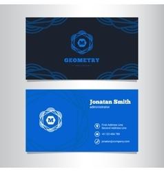 elegant business card template vector image