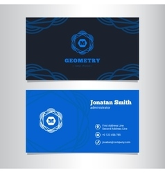 Elegant business card template with vector