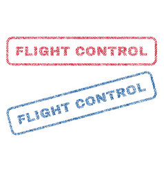 Flight control textile stamps vector