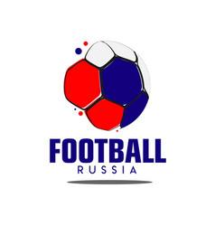 Football russia logo template design vector