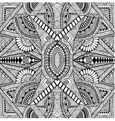 Geometric abstract psychedelic black and white vector