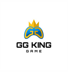 gg king game logo vector image