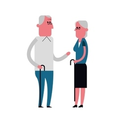 Grandparents cartoon People design vector image