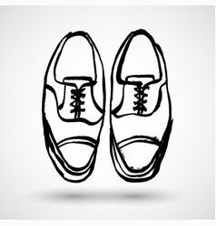 grunge - pair men shoes hand-drawn doodle vector image