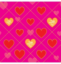Happy Valentines Day Seamless pattern vector image
