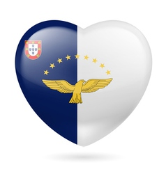 Heart icon of Azores vector image
