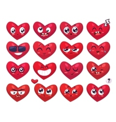 Heart Smiles set of characters cute vector image vector image