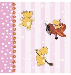 Hippopotamus background vector image