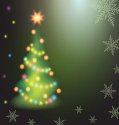 Home Christmas fir tree on colorful background vector