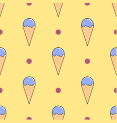 ice cream seamless pattern on yellow flat vector image