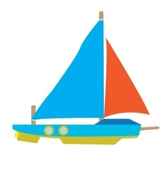 Isolated vessel toy vector