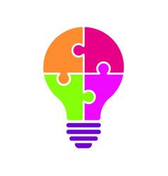 light bulb idea concept icon color vector image