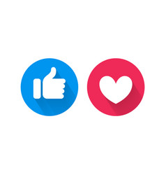 Like heart icons for live video chat vector