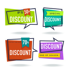 limited time sale collection of bright discount vector image