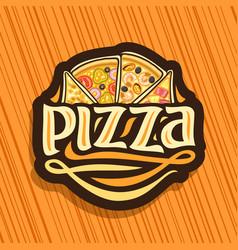 Logo for italian pizza vector