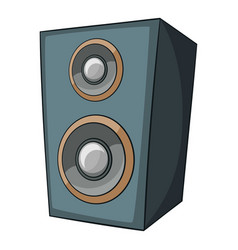 music speaker icon cartoon style vector image
