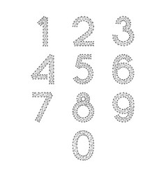 Numbers font set from 0 to 9 from abstract vector