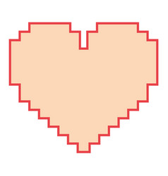 pixelated heart love romantic icon vector image