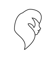 profile woman romantic image outline vector image