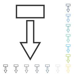 Pull arrow down icon vector