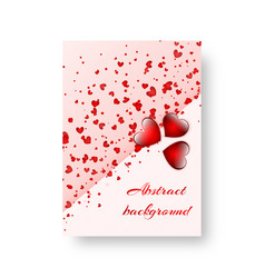 rectangular poster with scarlet hearts vector image
