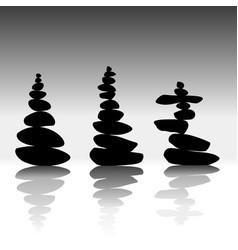 relax zen stones balanced vector image