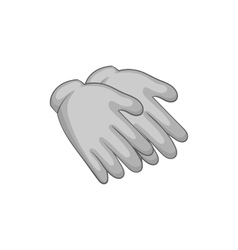 Rubber gloves icon black monochrome style vector image vector image