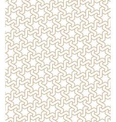 seamless arabic geometric ornament in golden color vector image