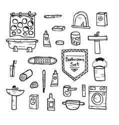 Set of bathroom equipment vector
