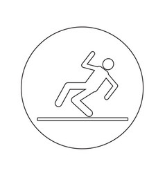 slippery floor sign icon design vector image