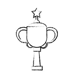 Star award cup sport win vector