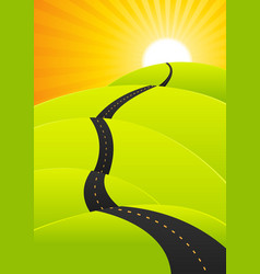 Summer travel - long road journey vector