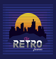 the retro forever vector image