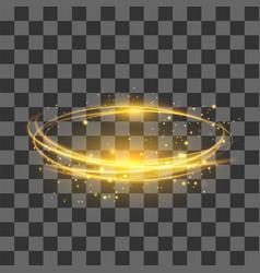 transparent light effect yellow lightning flafe vector image