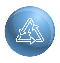 triangular energy arrow icon outline style vector image