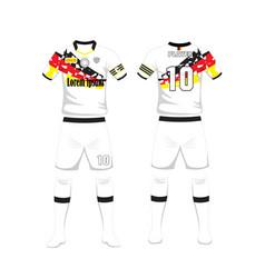 uniform of football germany sport design vector image