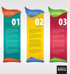 Vertical banner with number EPS10 vector image vector image