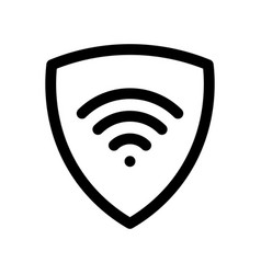 Vpn - virtual private network icon simple shield vector