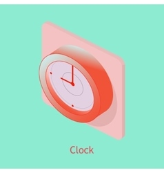 Wall Clock isometric vector image