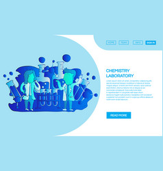 web page chemistry laboratory design templates vector image