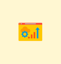 website optimization icon flat element vector image