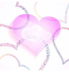 Weddign and valentines background with vector