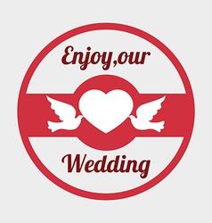 Wedding design over gray background vector