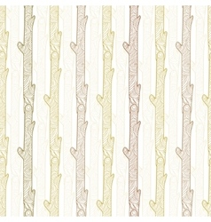 wood logs stripes seamless pattern vector image