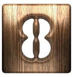 Wooden figure 8 vector