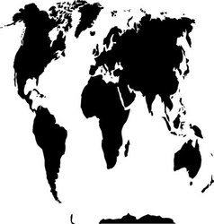 World map black and white vector image
