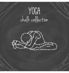 Yoga poses Chalk on vector
