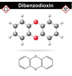 14- dibenzodioxine polycyclic heterocyclic vector image vector image